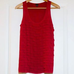 Ann Taylor Tiered Ruffle Pink Tank Top - New!